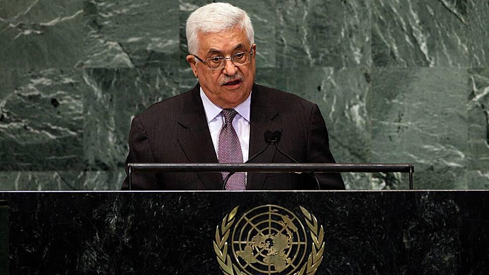 Mahmoud Abbas i FN:s talarstol