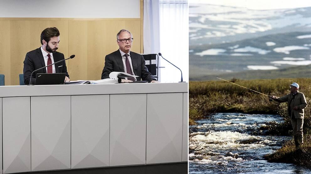 Domstolen i Gällivare och en fjällfiskare.