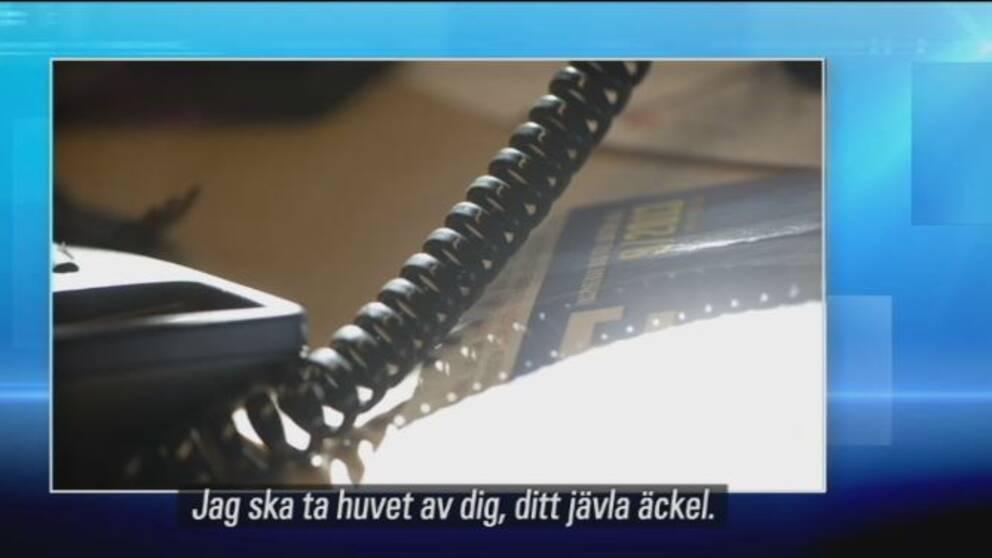 TV: Hör mannen hota Mohamad Hassan (L)