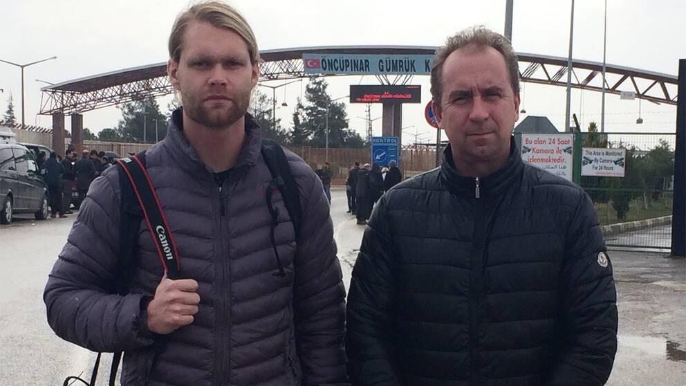 SVT:s team vid Kilis