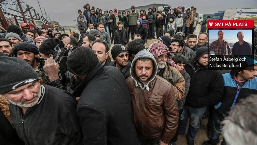 Situationen blir allt mer ohållbar för de Syrier som flyr mot Turkiets gräns.