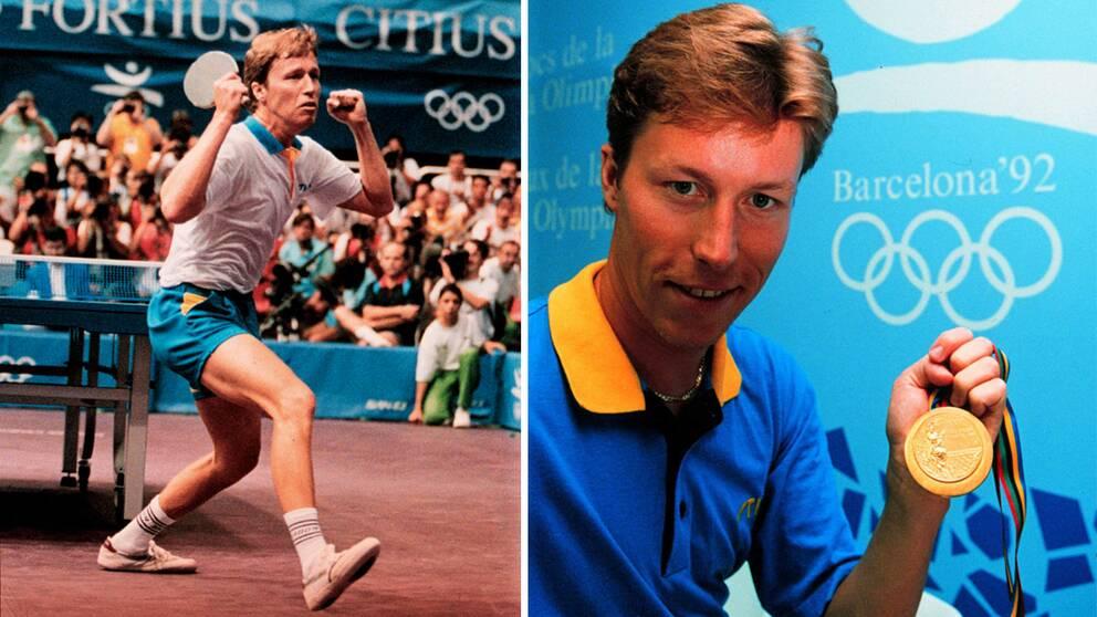 J-O Waldner vann OS-guld i Barcelona 1992. Foto: TT.