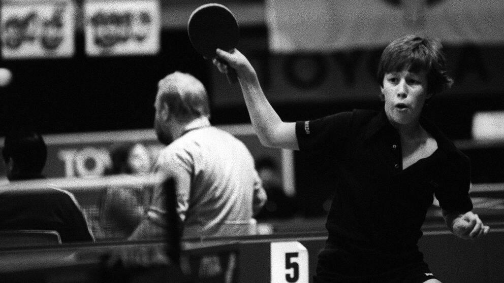 En 15-årig Jan-Ove Waldner spelar SOC, 1980.