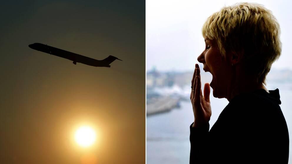 Att flyga över flera tidszoner leder ofta till att man hamnar ur sin dygnsrytm – så kallad jetlag.