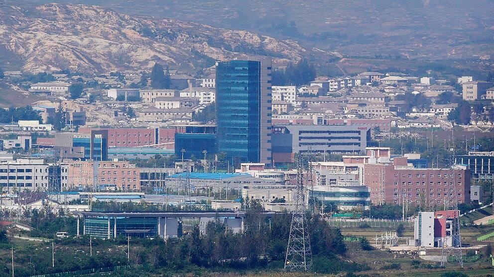 Industrikomplexet i Kaesong mellan Nordkorea och Sydkorea