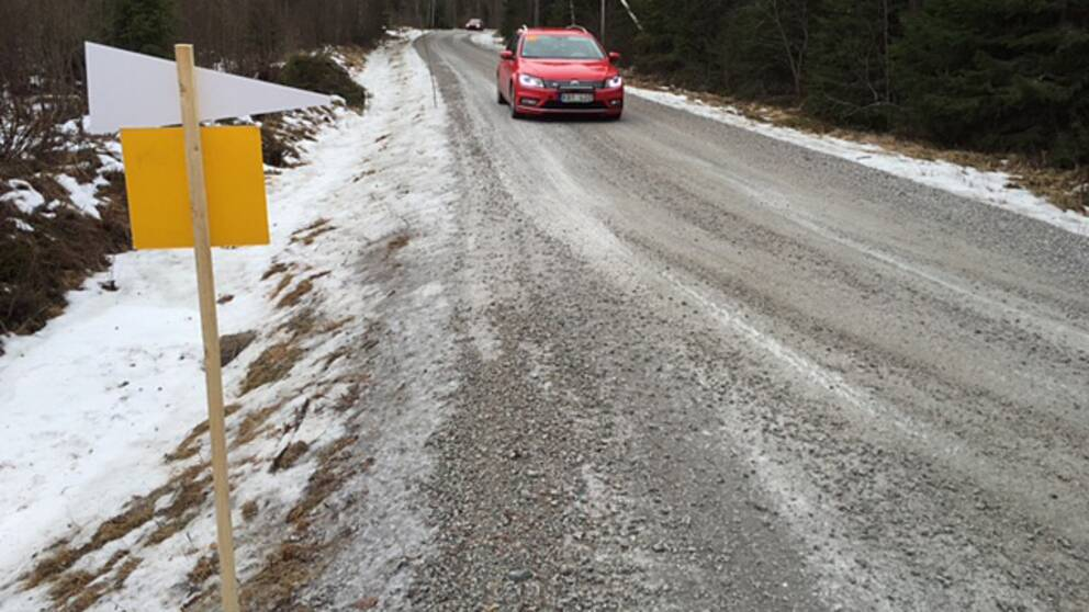 Så här ser det ut vid sträckan Rämmen som startar öster om Hagfors.