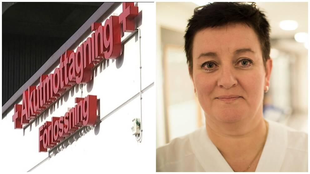 Carina Johansson, sjuksköterska på akutmottagningen i Helsingborg.