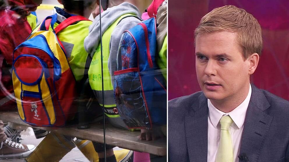 Förskolebidraget är ett bra sätt att få ner barngrupperna menar Gustav Fridolin (MP), utbildningsminister.
