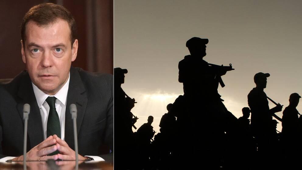 Rysslands premiärminister Medvedev om saudisk militär i Syrien