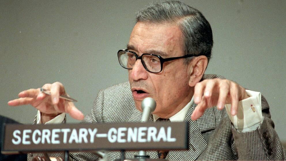 Boutros Boutros-Ghali var FN:s generalsekreterare 1991-1996.