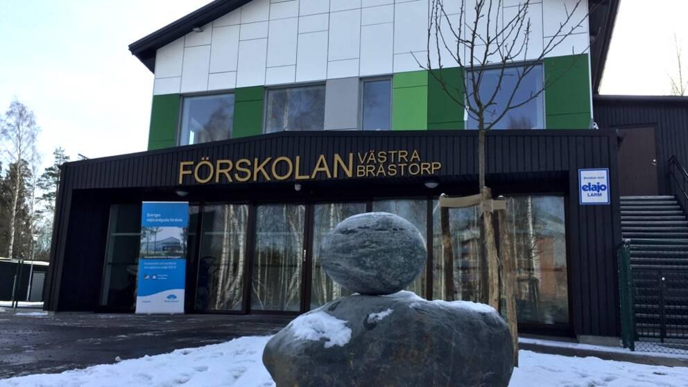 Västra Bråstorp förskola i Motala. Länets första och landets tredje förskola med en miljömärkt miljö.