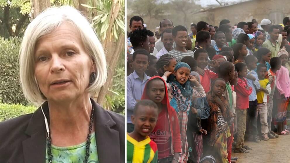 Anneka Knutsson vid den svenska ambassaden i Addis Abeba.