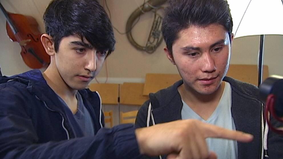 Nyanlända flyktingbarn gör film i Grums