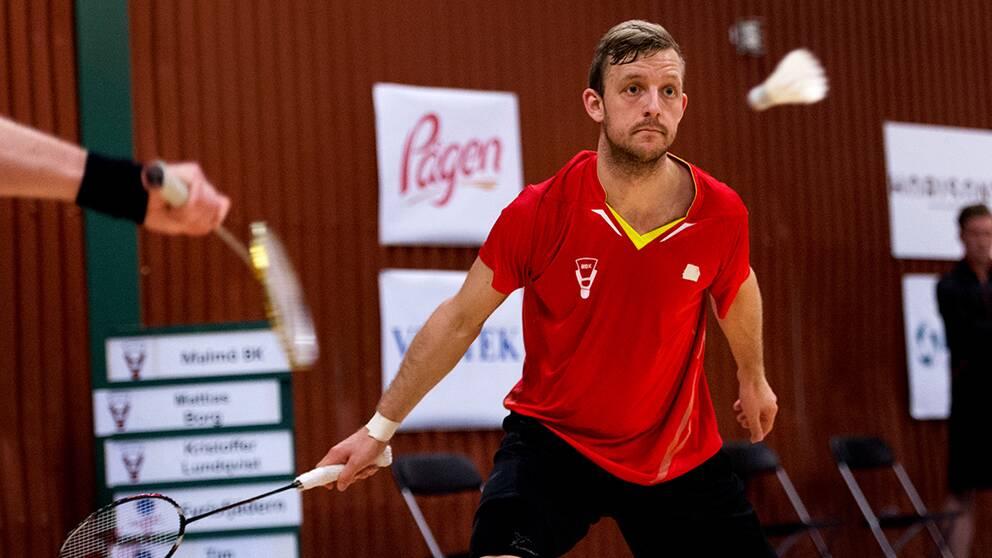 Mattias Borg var ende svensk som vann ett set mot Tyskland.