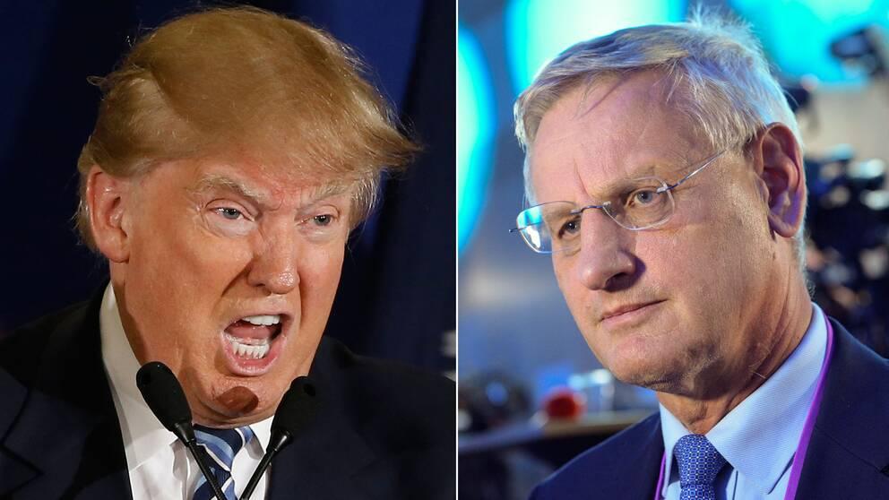 Donald Trump och Carl Bildt.