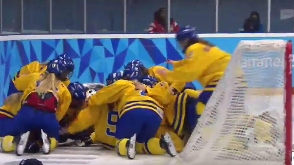 Sverige jublar över OS-guldet