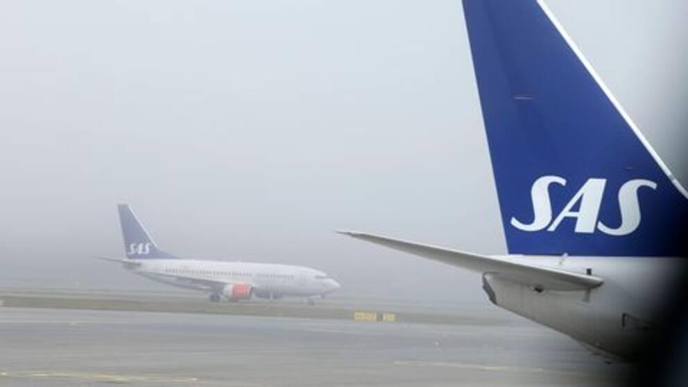 SAS Flygplan på marken