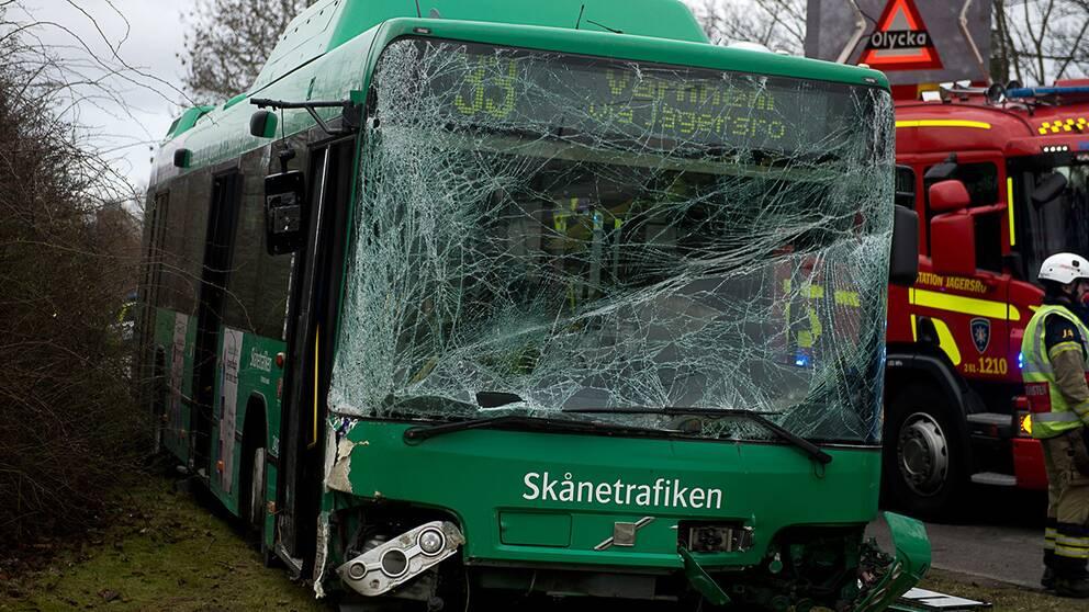 Buss beskjuten i malmo