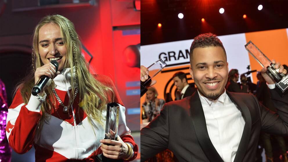 Silvana Imam och Erik Lundin fick ta emot priser på Grammisgalan ikväll.