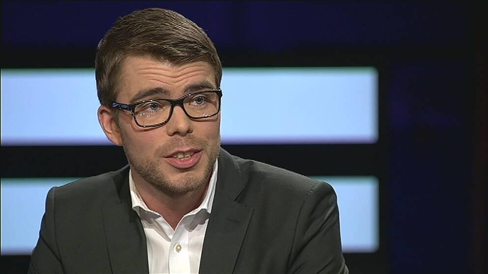 Miljöpartiets partisekreterare Anders Wallner i Agenda.