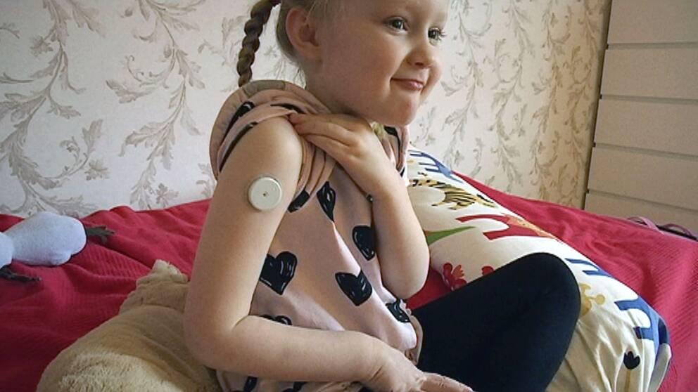 Barndiabetes, kontinuerlig glykosmätning, CGM-mätare,