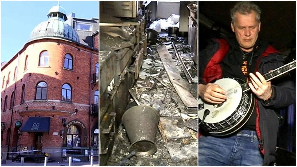 Branden på CC-puben orsakade stor förödelse.