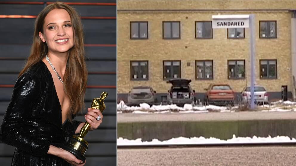 SVT Nyheter Väst har besökt Alicia Vikanders rötter i Sandared, utanför Borås.