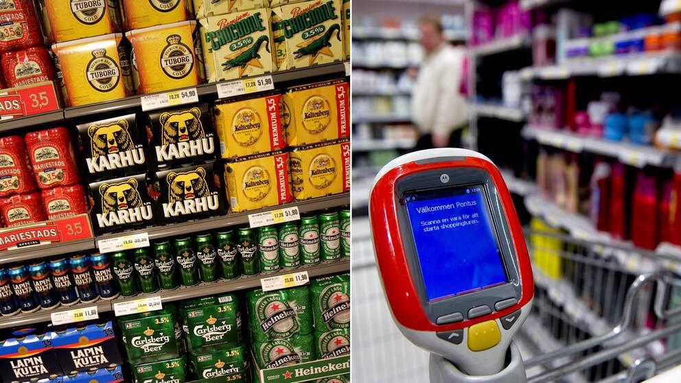 Folköl kan enkelt köpas i flera av de matbutiker med hjälp av självscanning som SVT testat, trots att köparen var under 18 år.