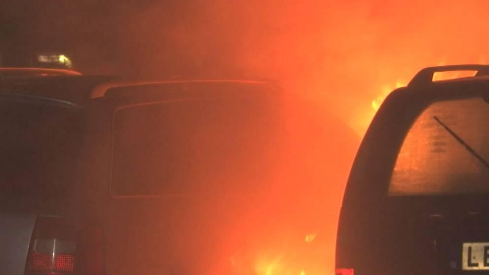 Bilbrand på Rosengård