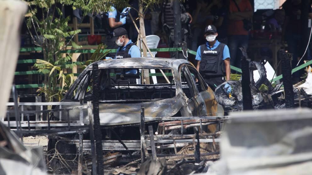 Flera skadade i sodra thailand