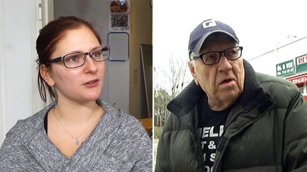 Både Danielle Gyllenpalm och pensionären Kjell Nejdefeldt bor i kommunala Tyresöbostäders hem och kommer få sina hyror höjda i år igen.