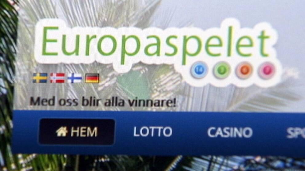 Skärmdump från lotteribolagets sajt.