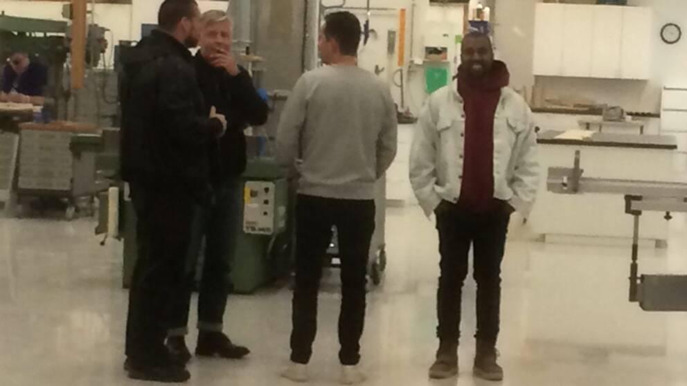 Världsstjärnan Kanye West har i dag besökt Ikea i Älmhult.