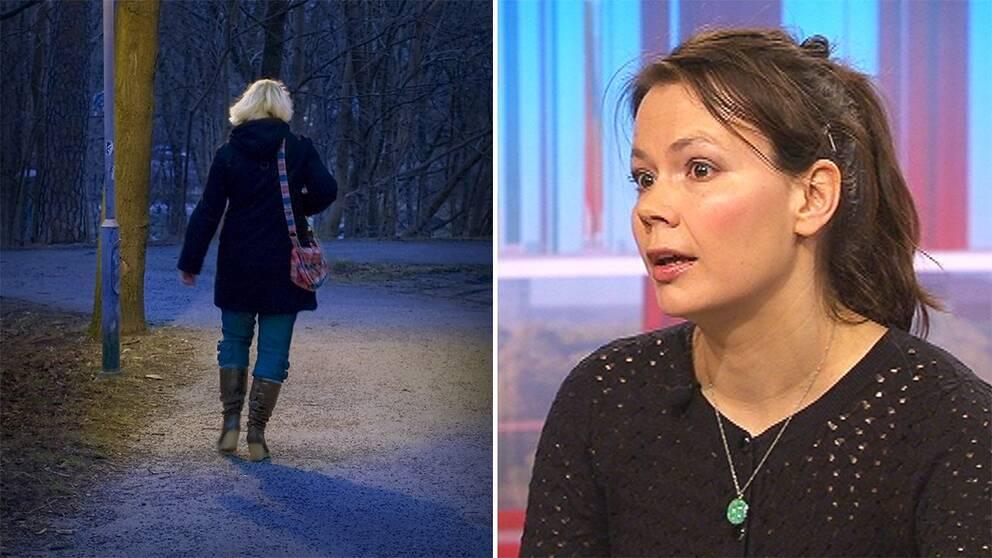 En kvinna går ensam. Kriminologen Anita Heber.