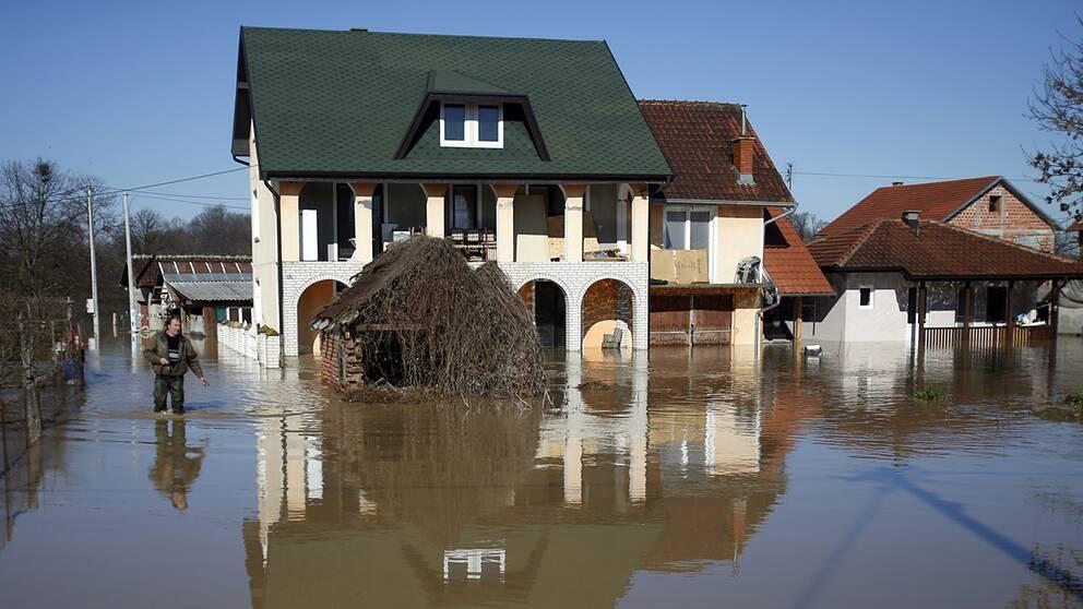 Över 700 människor har evakuerats efter de kraftiga regn som lett till att delar av Serbien drabbats av översvämningar.