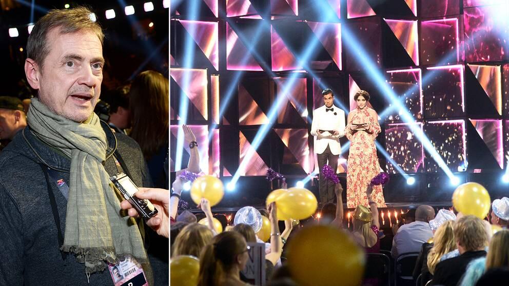 Christer Björkman mer än överlycklig efter att 12 miljoner röster kommit in i finalen av Melodifestivalen 2016 – men väldigt få röstade via välgörenhetsnumret och årets tävling drog in fem miljoner kronor mindre än 2012.