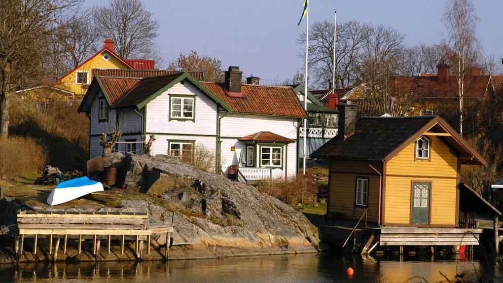 hus i Vaxholm.