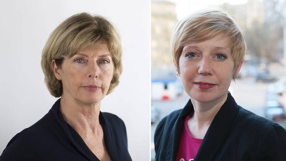 SVT:s utrikespolitiska kommentator Eva Elmäster och Rysslandskorrespondent Elin Jönsson.