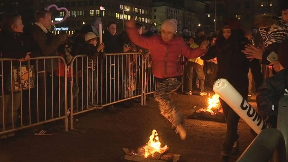 Arkivbild: Eldfest på Heden i Göteborg.