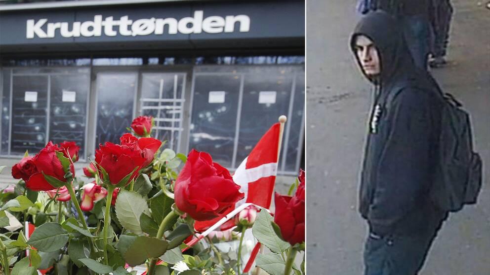 Den misstänkte Omar Abdel Hamid El-Hussein fångades på bild av en övervakningskamera vid en tågstation.