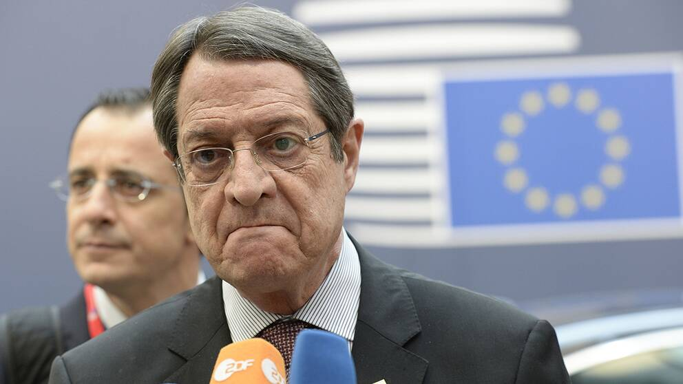 Cyperns president Nicos Anastasiades