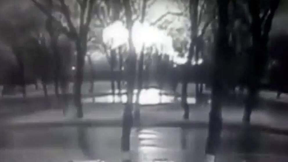 Flygkraschen i Rostov fångades av en övervakningskamera.