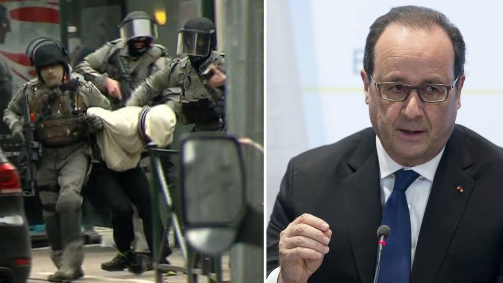 Insatsen i Belgien och Francois Hollande