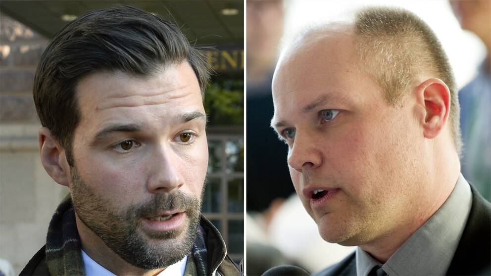Johan Forsell, Moderaternas migrationspolitiske talesperson och migrationsminister Morgan Johansson (S)