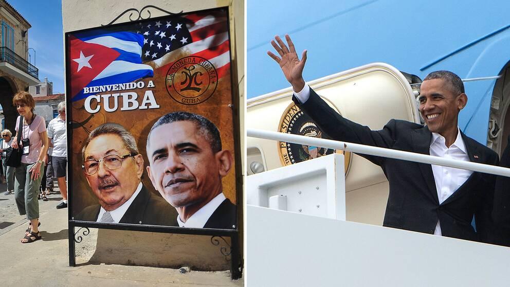 USA:s president Barack Obama inleder ett unikt statsbesök