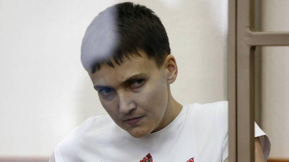 Den ukrainska piloten Nadezjda Savtjenko.