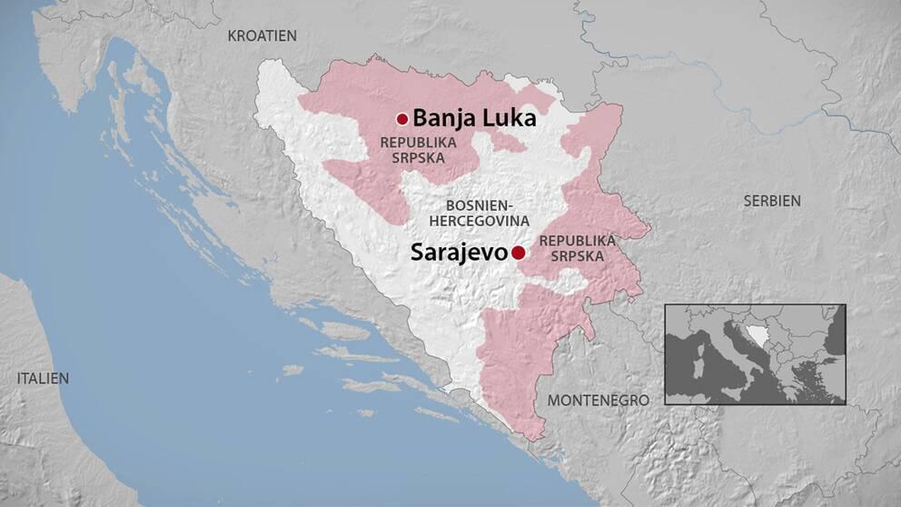 Karta Bosnien Och Hercegovina.Sanktioner Efter Kontroversiell Folkomrostning Svt Nyheter
