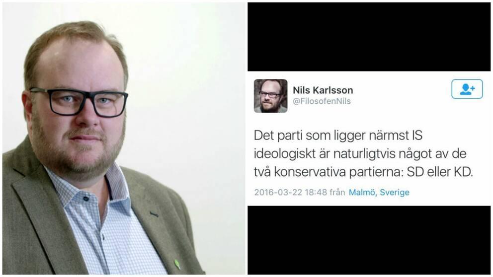 MP-politiker jämförde IS med KD och SD