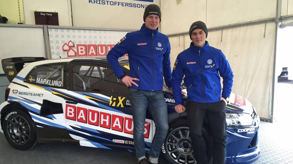 Johan Kristoffersson och Anton Marklund gör gemensam sak.