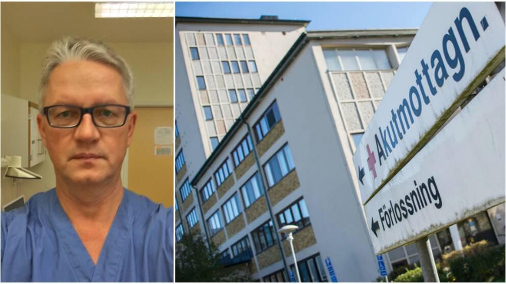 Bildmontage: Läkaren Henryk Rzadkowski och Sollefteå akutmottagning